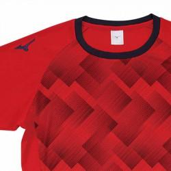 【MIZUNO】排球&運動短袖V2TA9G1862紅靛藍