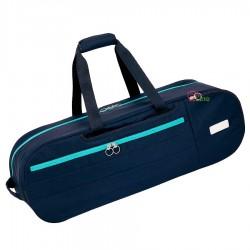 【MIZUNO】73JD051382黑藍 雙肩背側背二用圓形6支裝拍袋