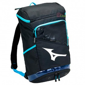 【MIZUNO】73TD020309黑藍 雙肩後背大容量羽拍包