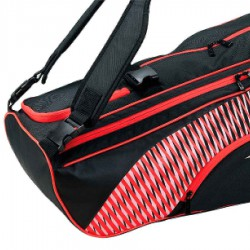 【MIZUNO】73TD051162黑紅 旗艦款6支入裝羽球拍袋