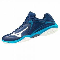 【MIZUNO】WAVE CLAW EL丈青藍 女款寬楦專業級羽球鞋