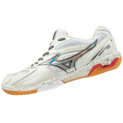 【MIZUNO】WAVE FANG PRO白 女款比賽級羽球鞋
