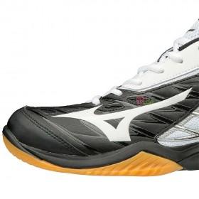 【MIZUNO】WAVE CLAW 黑白 超寬楦男款專業級羽球鞋