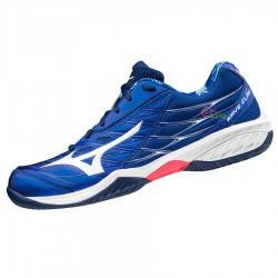 【MIZUNO】WAVE CLAW藍 寬楦羽球鞋