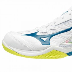 【MIZUNO】WAVE CLAW白黃 寬楦羽球鞋