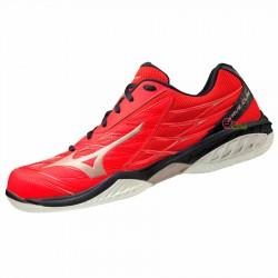 【MIZUNO】WAVE CLAW紅 寬楦羽球鞋