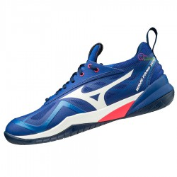 【MIZUNO】WAVE FANG ZERO藍 寬楦羽球鞋