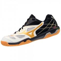 【MIZUNO】WAVE FANG NX白黑 寬楦羽球鞋