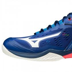 【MIZUNO】WAVE CLAW NEO藍 寬楦羽球鞋