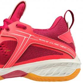 【MIZUNO】WAVE CLAW NEO橘紅 寬楦女款專業級羽球鞋