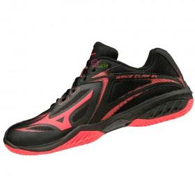 【MIZUNO】WAVE CLAW EL黑紅 寬楦男款專業級羽球鞋