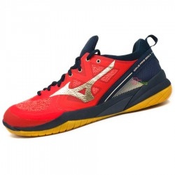 【MIZUNO】WAVE FANG ZERO2紅黑 發泡回彈科技羽球鞋