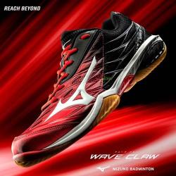 【MIZUNO】WAVE CLAW紅黑 奧原希望使用型羽球鞋