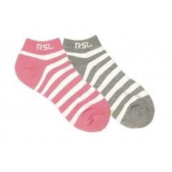 【RSL】吸濕排汗橫條運動腳踝襪 (女版)