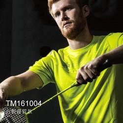 【RSL】TM161004新款輕盈綠圖騰拼布反光飾條排汗潮T(男)