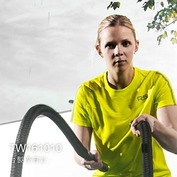 【RSL】TW161010新款輕盈綠圖騰拼布反光飾條排汗潮T(女)