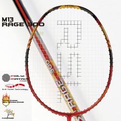【RSL】M13-Rage300 高密度多層石墨超耐打火紅3U羽球拍
