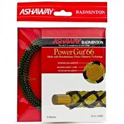 【ASHAWAY】Power GUT66細線傳奇快彈準黑綠雙色羽拍線(0.66mm)