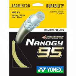 【YONEX】NANOGY95奈米複合高反彈追求速度與耐久性羽拍線(0.69mm)