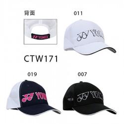 【YONEX】CTW171品牌透氣運動棒球帽(三色)