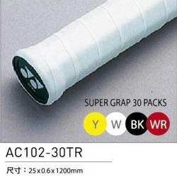 【YONEX】AC102EX-30單色30條裝握把皮0.6mm(薄)