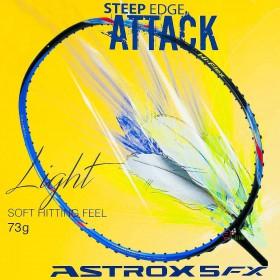 【YONEX】ASTROX 5FX黑紫超輕73克耐高磅大甜蜜點6U羽球拍