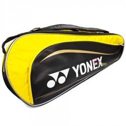 【YONEX】BAG13018TR淺黃3支裝單肩側背羽拍包