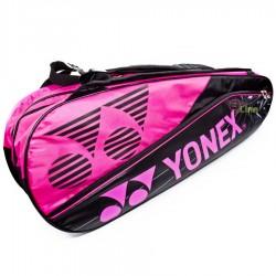 【YONEX】BAG16018TR桃紅防熱保護6支裝雙肩羽拍包
