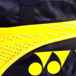 【YONEX】BAG22018TR淺黃附小鞋袋矩型側背手提拍包