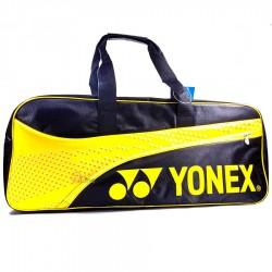【YONEX】BAG22018TR淺黃附小鞋袋矩形側背手提拍包