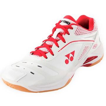 【YONEX】POWER CUSHION 65Z白紅比賽級羽球鞋(女款)