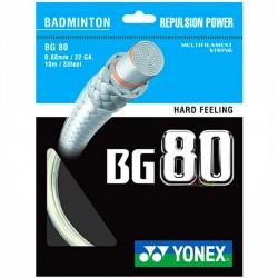 【YONEX】BG80高強度高彈性螺旋纏繞強攻型選手羽拍線(0.68mm)