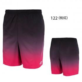 【YONEX】12038TR-122桃紅 專業羽球比賽男款短褲
