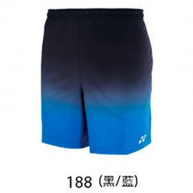 【YONEX】12038TR-188黑藍 專業羽球比賽男款短褲