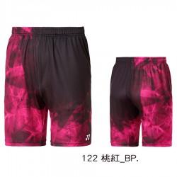 【YONEX】12039TR-122桃紅 專業羽球比賽男款短褲