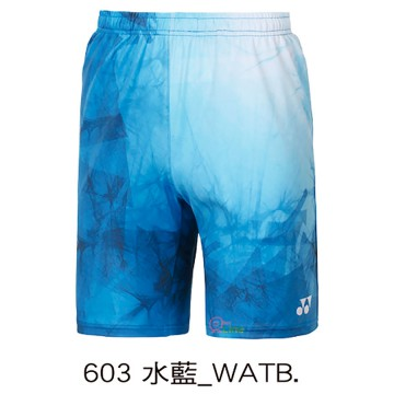 【YONEX】12039TR-603水藍 專業羽球比賽男款短褲