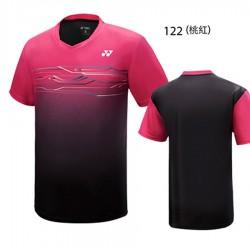 【YONEX】13038TR-122桃紅 專業羽球比賽服男款