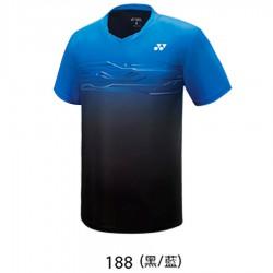 【YONEX】13038TR-188黑藍 專業羽球比賽服男款