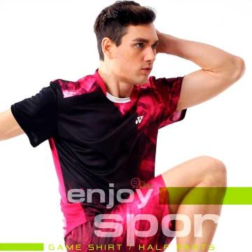 【YONEX】13039TR-122桃紅 專業羽球比賽服男款
