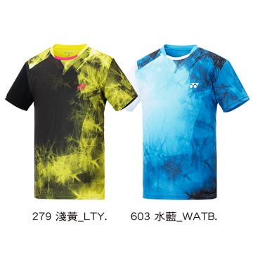 【YONEX】13039TR-279淺黃 專業羽球比賽服男款