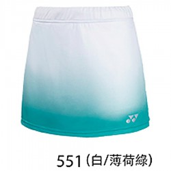 【YONEX】22038TR-551白薄荷綠 專業羽球比賽女款褲裙
