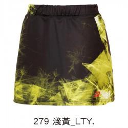 【YONEX】22539TR-279淺黃 專業羽球比賽女款褲裙