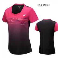 【YONEX】23038TR-122桃紅 專業羽球比賽服女款