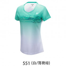 【YONEX】23038TR-551白薄荷綠 專業羽球比賽服女款