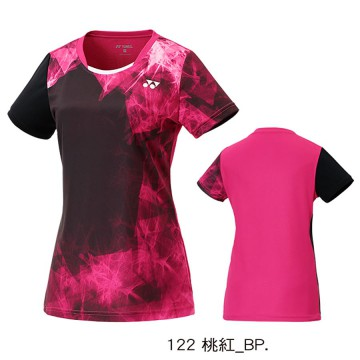 【YONEX】23039TR-122桃紅 專業羽球比賽服女款