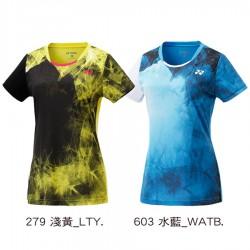 【YONEX】23039TR-279淺黃 專業羽球比賽服女款