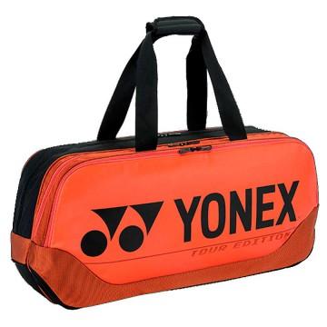 【YONEX】BA92031WEX銅橘 矩型雙夾層手提側背拍包
