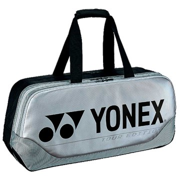 【YONEX】BA92031WEX銀 矩型雙夾層手提側背拍包