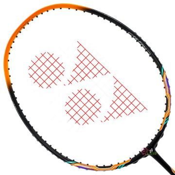 【YONEX】NANORAY 60FX黑橘 輕量快速4U彈力擊球感羽球拍