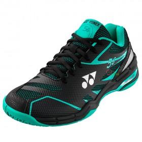 【YONEX】POWER CUSHION 56黑綠 舒適柔軟輕量羽球鞋